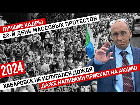 Хабаровск не испугался дождя // Даже Наливкин приехал на акцию // 22-й день протеста