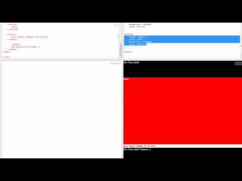 HTML5 Tutorial Teil 3 - HTML Und CSS