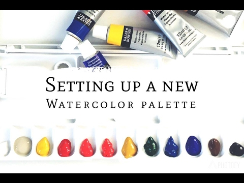 Setting up a new watercolor palette/ Daler Rowney Tubes Watercolors/Watercolor for beginners