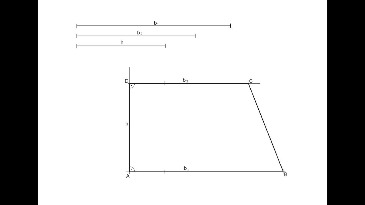 Resultado de imagen de trapezi isòsceles donades les bases i l'altura
