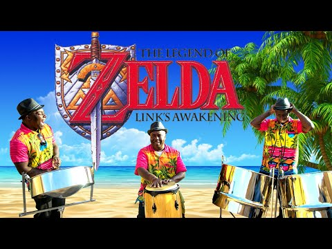 Relaxing jazzy cover -Legend of Zelda main theme on steel drums. LIVE band.