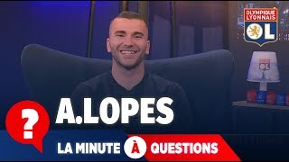 La minute à question VS Anthony Lopes | Olympique Lyonnais