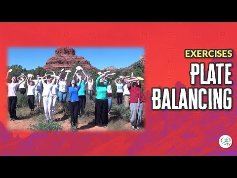 Plate Balancing Yoga Exercise at Bell Rock