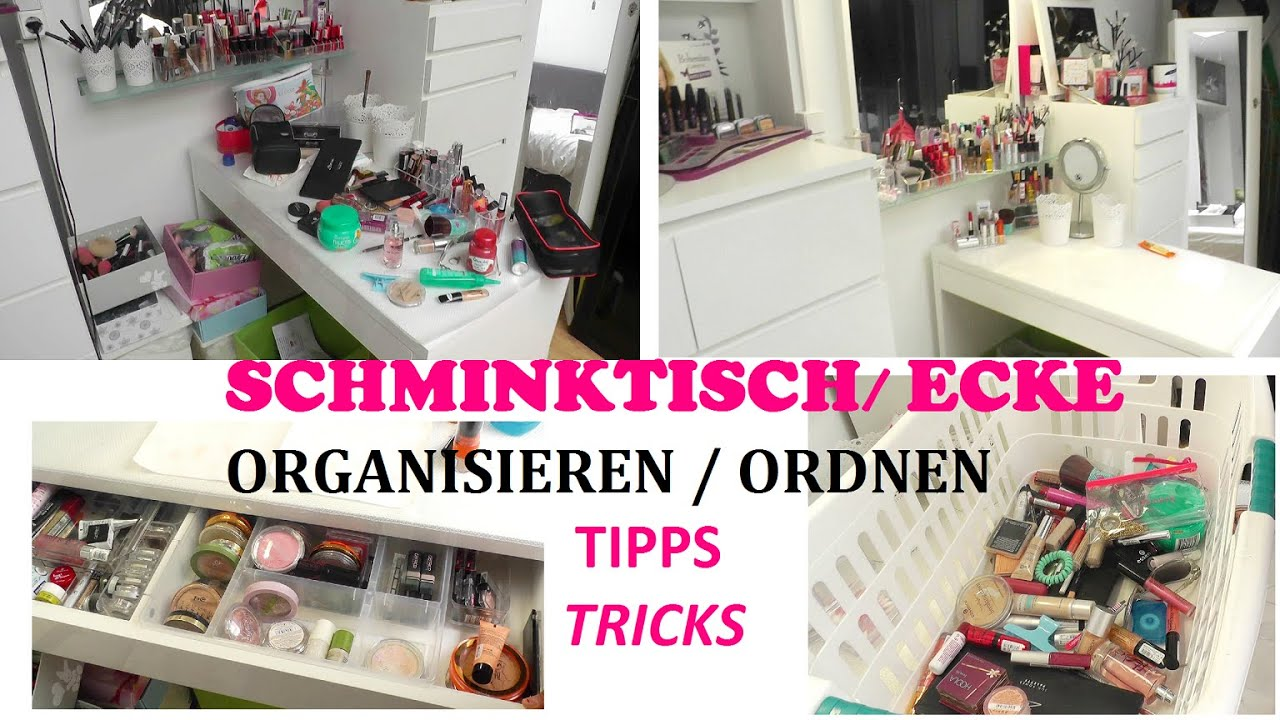 schminktisch ecke organisieren ordnen tipps und tricks youtube. Black Bedroom Furniture Sets. Home Design Ideas