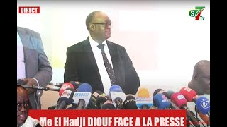🛑Point de Presse Me El Hadji DIOUF