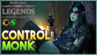 [TES LEGENDS] CHILL & WAIT -  Control Monk Deck Guide Gameplay 🗡️ Forgotten Hero
