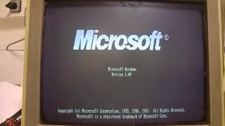 Windows1 (1985) PC XT Hercules