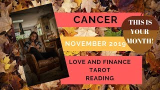 """CANCER - """"BOOMING AND WINNING MONTH!"""" NOVEMBER 2019 LOVE AND FINANCE TAROT READING"""