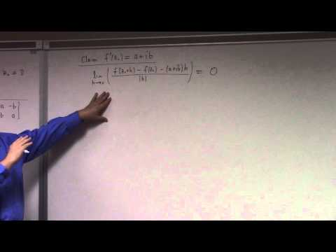 Complex Analysis: Lecture 9:  CR equations and Inverse Function Theorem