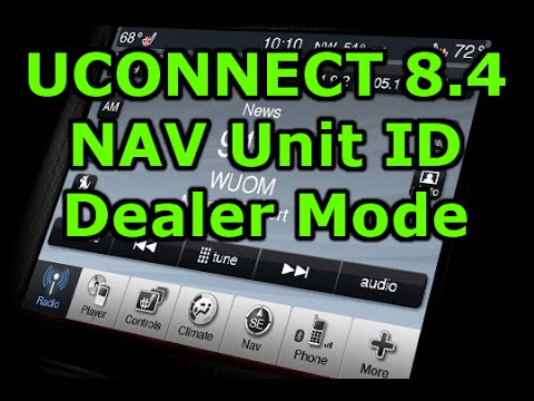 2016 Ram 1500 >> uConnect 8.4 Unit ID and Dealer Mode - YouTube