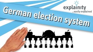 German election system / Bundestagswahl easily explained (explainity® explainer video)