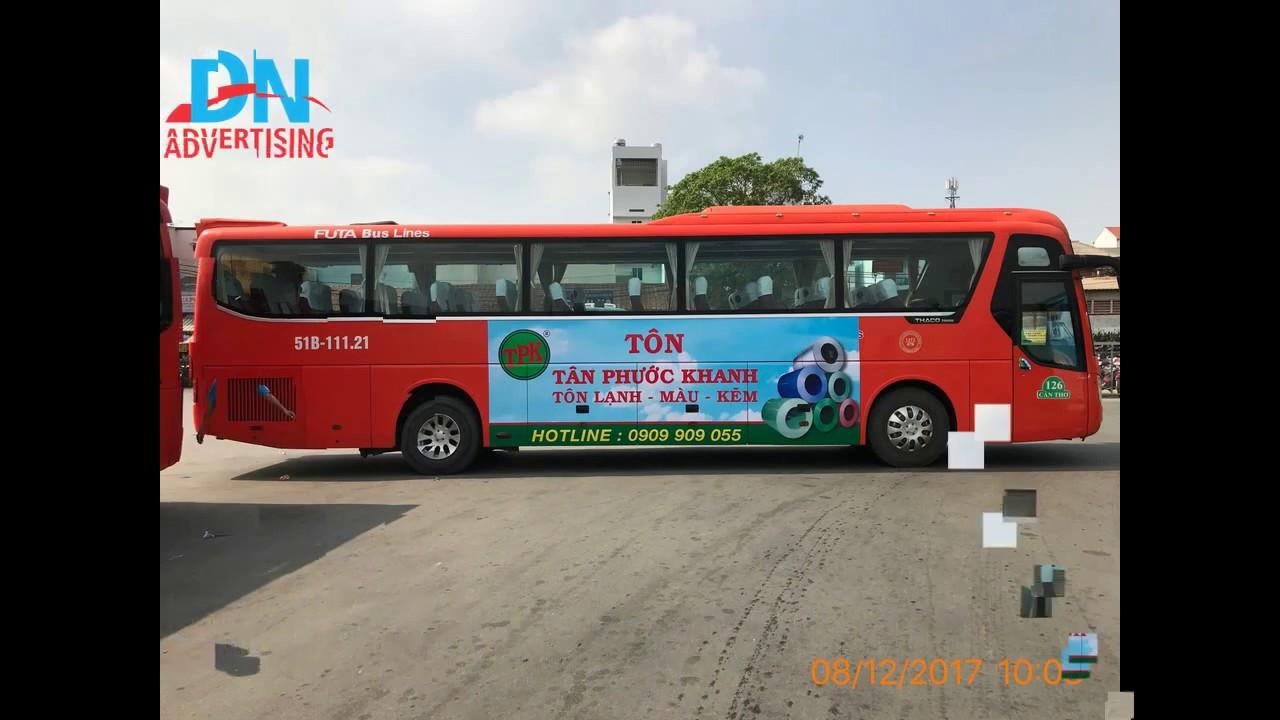 Quảng cáo trên xe Phương Trang nhãn hàng Tôn Phước Khanh [dannamadv.vn]