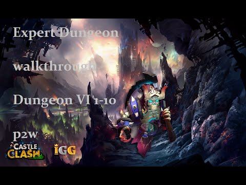 Castel Clash: Schloss Konflikt: Tutorial#6: Expert Dungeon 6 Walkthrough P2w