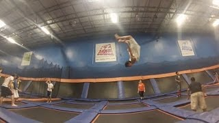 single and double flips dunks foam pit skyzone via gopro