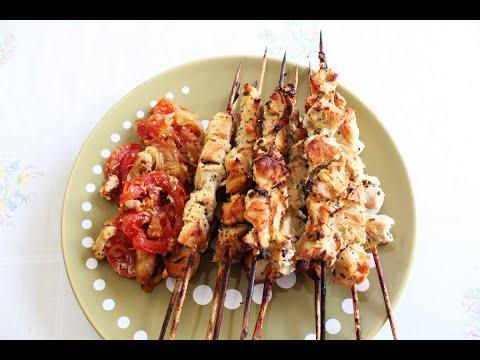 brochettes-de-poulet-au-four---أسياخ-دجاج-مخبوزة