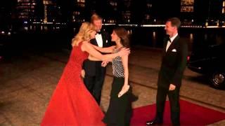 Dansvoorsteling voor koningin Margrethe