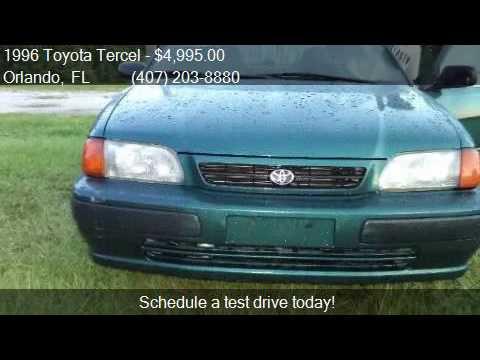 Orlando Auto Imports >> 1996 Toyota Tercel DX 4dr Sedan for sale in Orlando, FL 3283 - YouTube