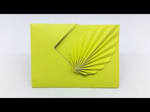 Leaf Envelope making with paper with out Glue Tape and Scissors (Origami Envelope)