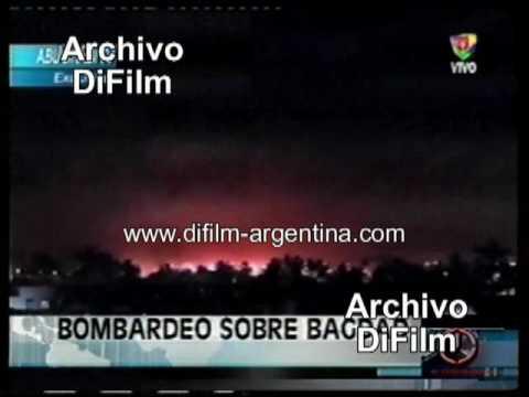 DiFilm - Flas América Noticias Bombardeo sobre Bagdad - Guerra en Irak (2003)
