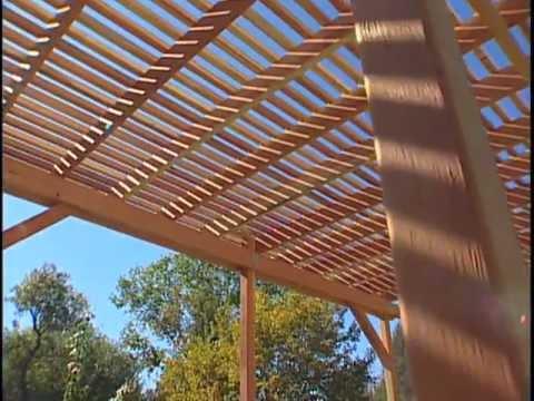 How to Build a Redwood Pergola