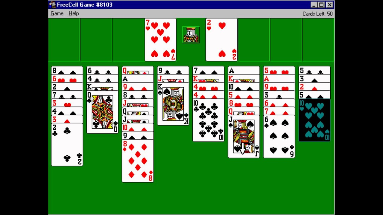 FreeCell on Windows 95 - YouTube