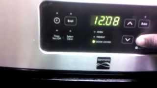 how to unlock kenmore oven