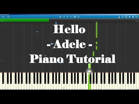 Piano emotional piano chords : Adele - Hello Piano Tutorial How To Play (Advanced) Full song ...