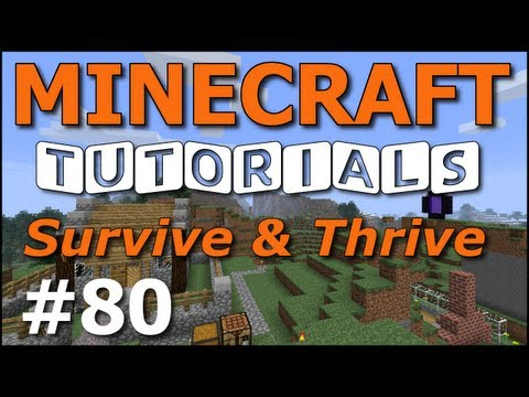 Minecraft Tutorials - E80 Horse Taming and Riding (Survive and Thrive Season 6)