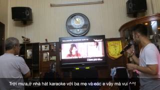 Akira Phan hát karaoke Dấu Mưa ở nhà 22/7/2014