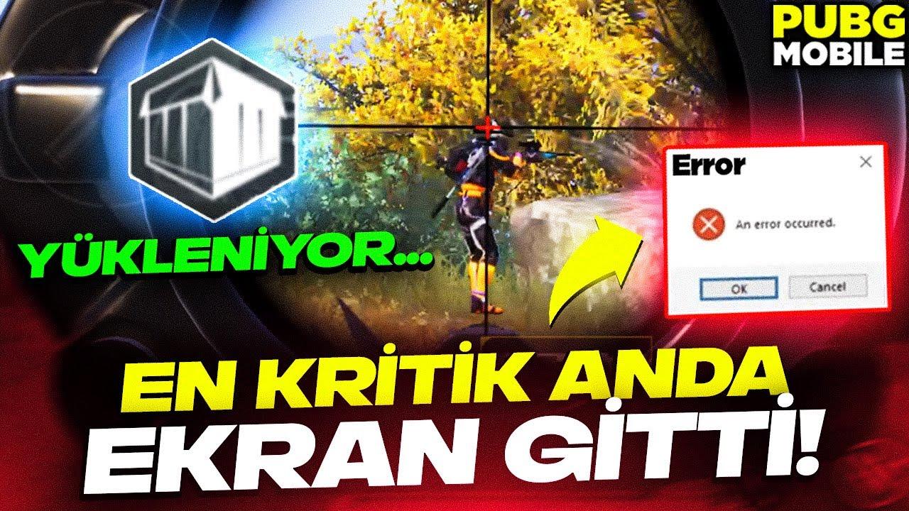 EN KRİTİK YERDE EKRAN GİTTİ!!! | PUBG MOBILE