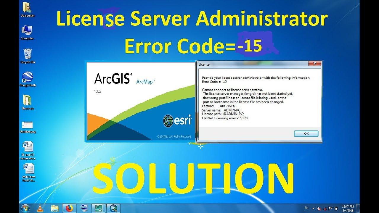 Fixing ArcGIS License Server Administrator Error Code= -15
