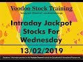 Intraday Jackpot Trading Tips For Wednesday - 13/02/2019