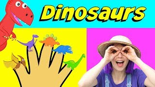 Dinosaur Finger Family Song - Bella And Beans TV