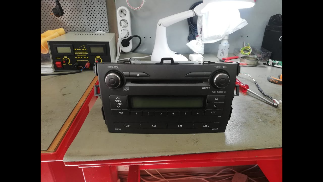 How to insall AUX in toyota corolla 2008-2012