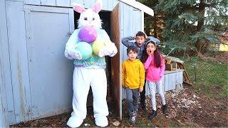 Heidi e Zidane Conheça o Coelhinho da Páscoa! Vídeo de família