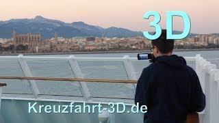 3D-Video: AIDA Reisebericht Mittelmeer Kreuzfahrt - Tag 1 - Palma de Mallorca mit AIDAvita