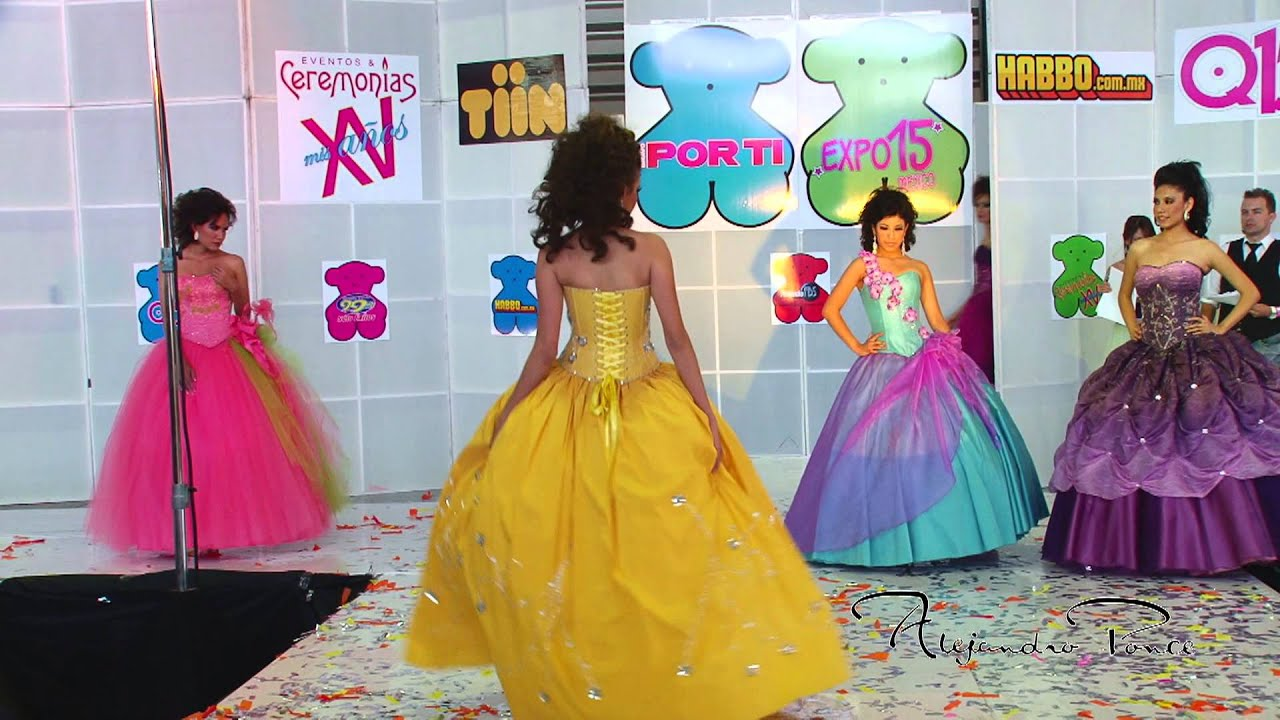 5a8b1f7f92 Expo 15 Mexico pasarela de vestidos Alejandro Ponce - YouTube