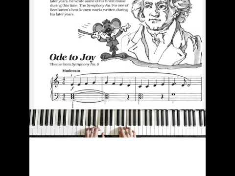 bastien-piano-basic-level-1:-ode-to-joy-theme-from-symphony-no-9