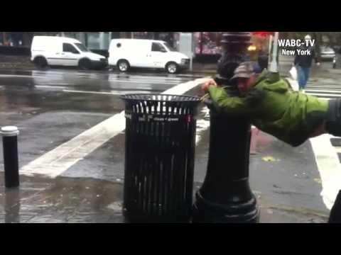 Josh Pais reporting on hurricane Sandy