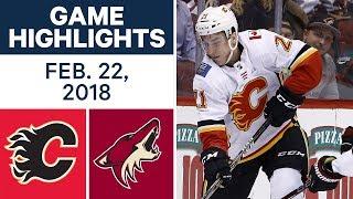 NHL Game Highlights | Flames vs. Coyotes - Feb. 22, 2018
