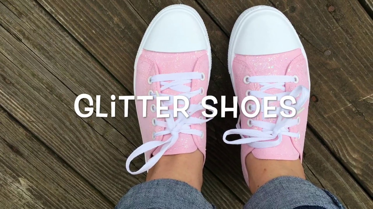 00d47deb0b DIY Glitter Sneakers - YouTube