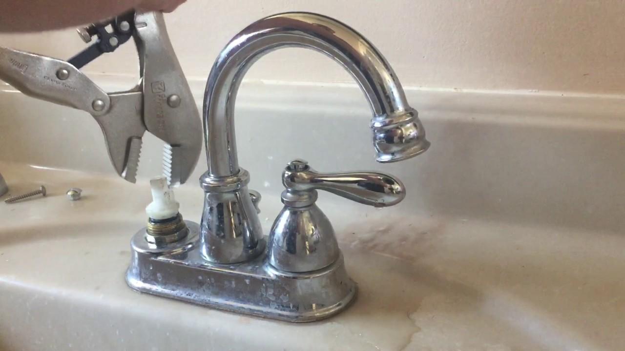 how to remove a stuck moen sink cartridge youtube rh youtube com