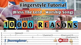 Bless The Lord   10000 Reasons by Matt Redman Fingerstyle Guitar Tutorial