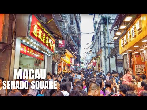 Macau China Walking Tour (Senado Square to Ruins of St. Paul