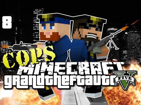 Minecraft Grand Theft Auto Mod 5  ROADBLOCK OP GTA 5