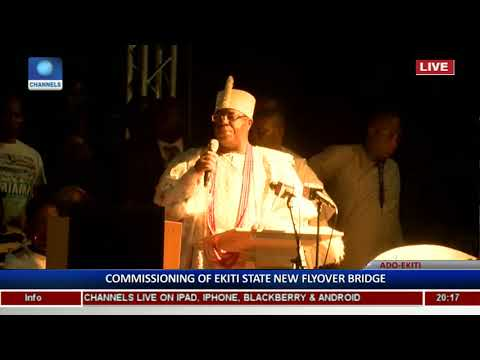 Ekiti Flyover: Traditional Rulers Laud Project, Commend Fayose