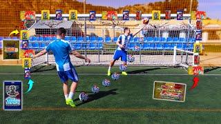 PORTERÍA LLENA de SOBRES de CROMOS Adrenalyn, Liga Este, Champions League... | Reto de fútbol