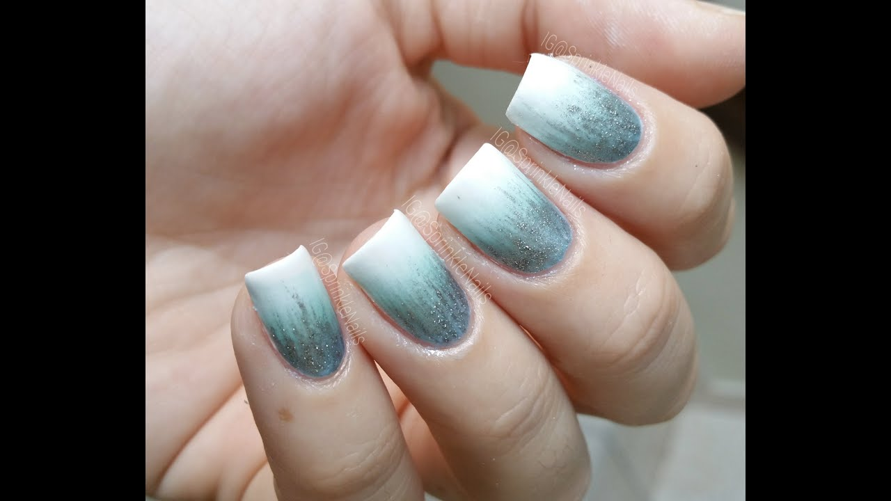 Frosted waterfall | nail art - YouTube