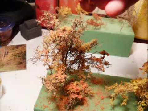 Model railroad scenery:                 Modeling quick realistic trees