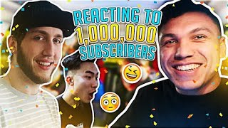 LIVE REACTION TO HITTING ONE MILLION SUBSCRIBERS